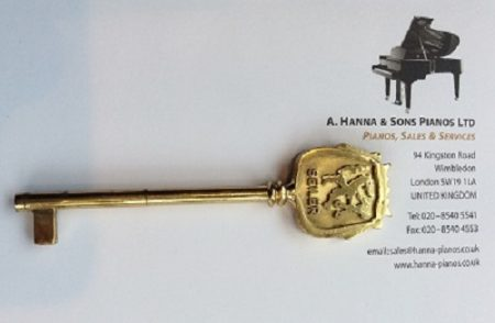 Original Seiler Grand Piano Key