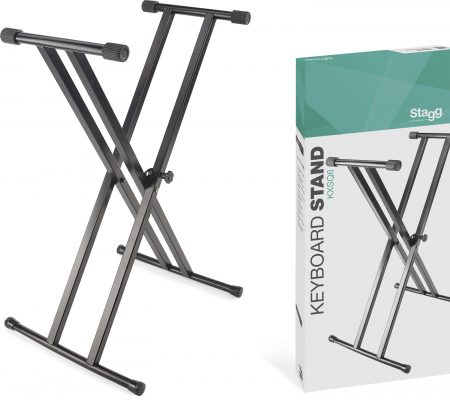 Stagg KXSQ6 Double Braced X style Keyboard Stand