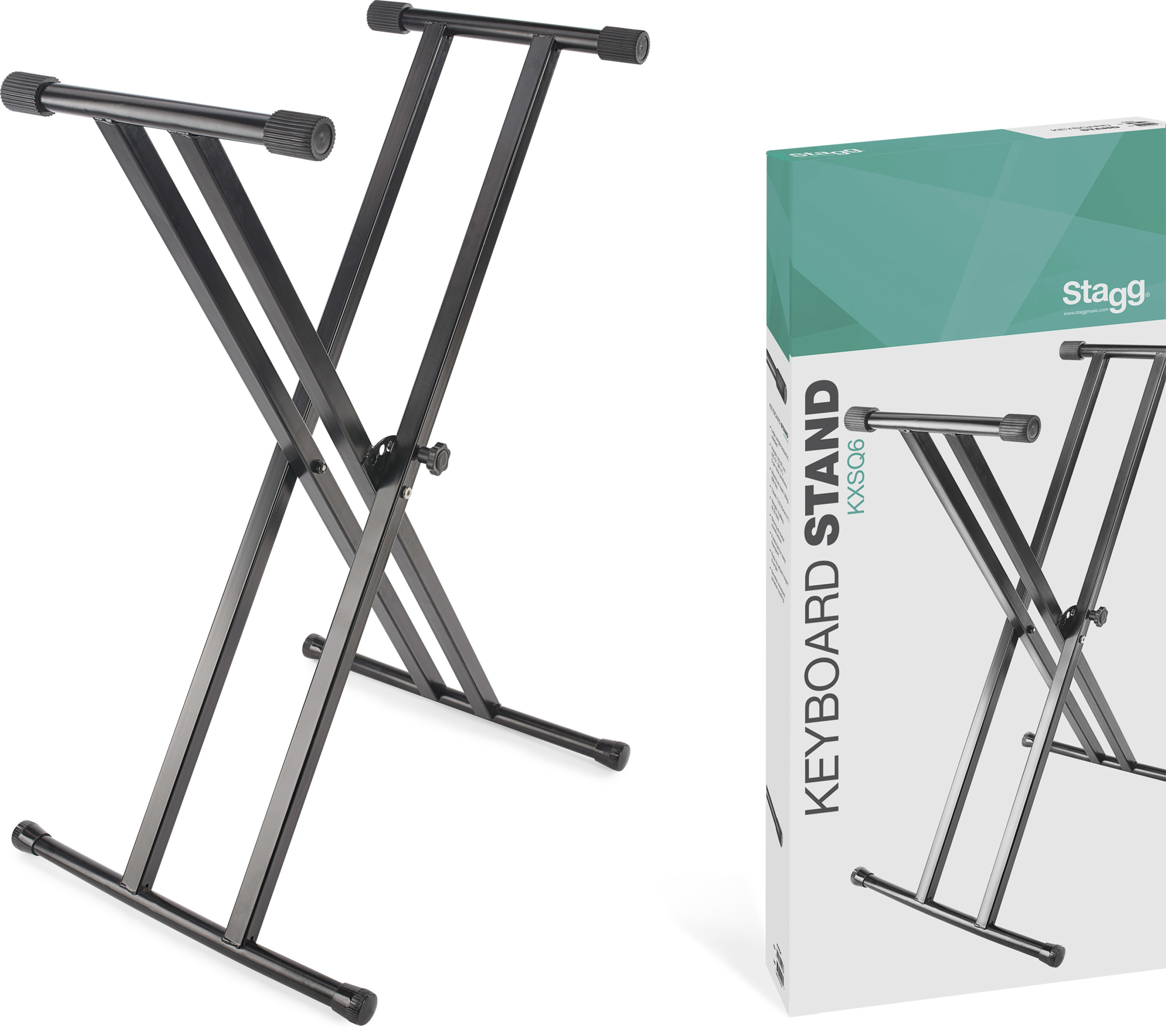Stagg KXSQ6 Double Braced X-style Keyboard Stand