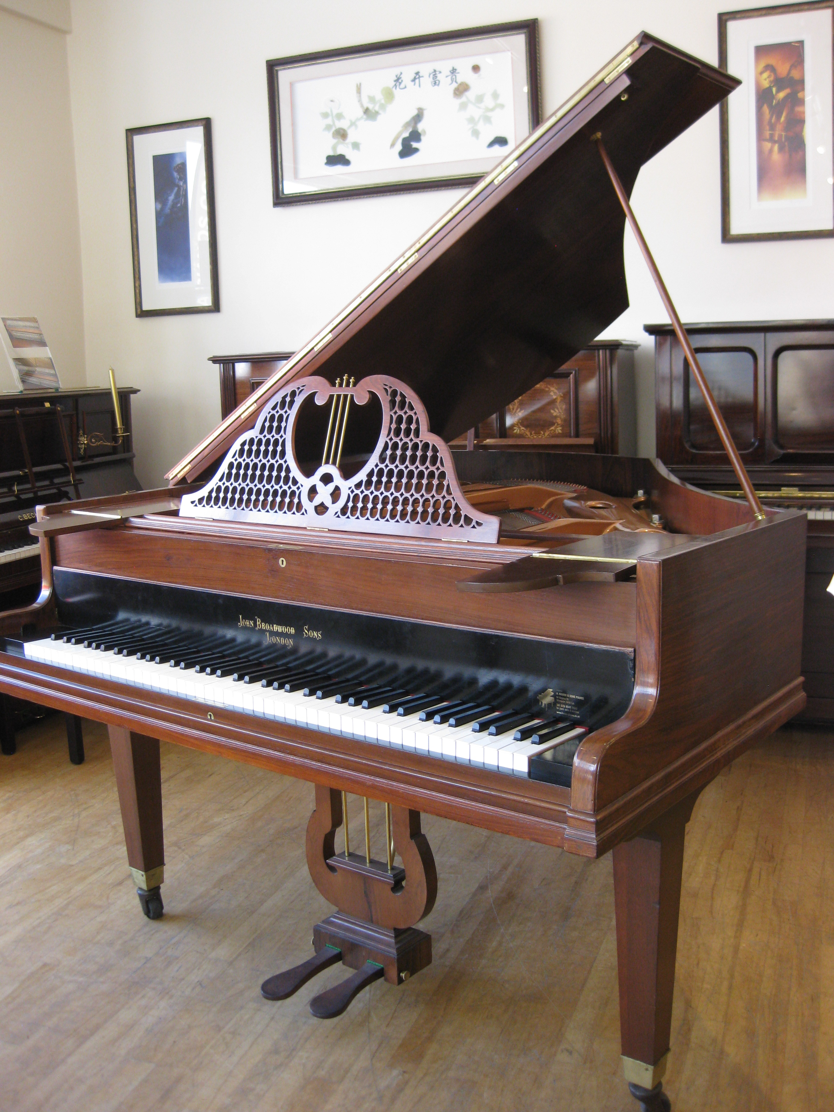 Antique John Broadwood Baby Grand Piano A Hanna Amp Sons