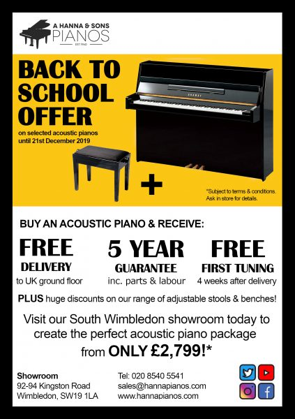 Back to School Acoustic Offer