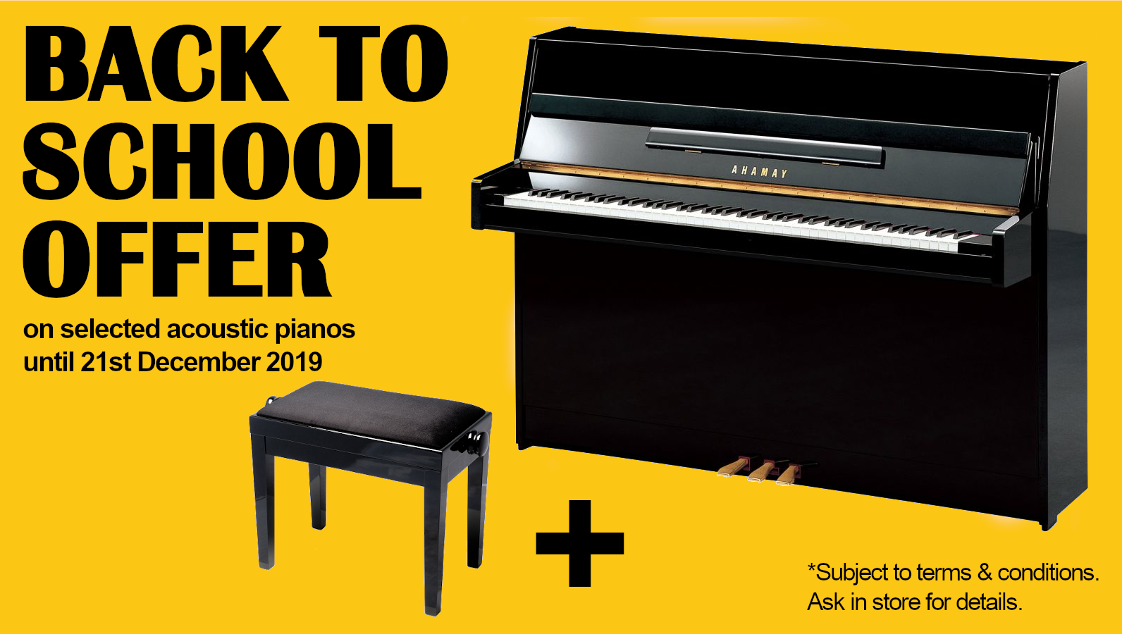 Back to School Acoustic Pianos Offer 2019