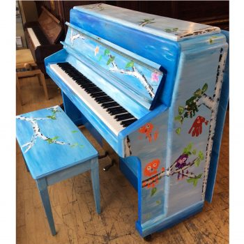 Morley Hand Painted Upright Acoustic Piano