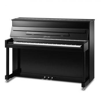 Ritmuller Classic EU110S Silent Upright Piano -Black Chrome